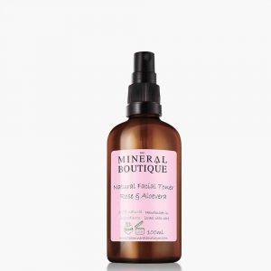 Natural Facial Toner Rose & Aloevera the mineral boutique