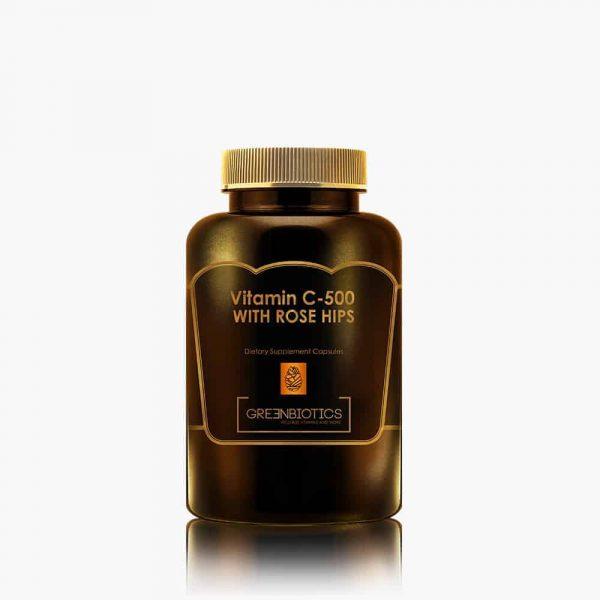 Vitamin C 500 with Rose Hips Greenbiotics