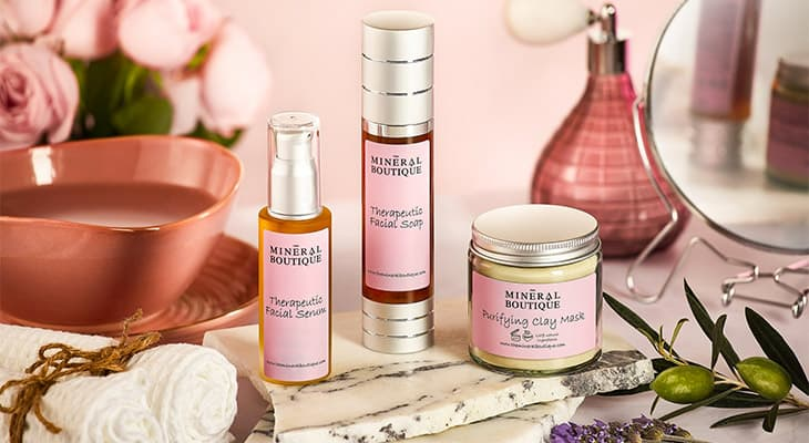 beauty products by the mineral boutique